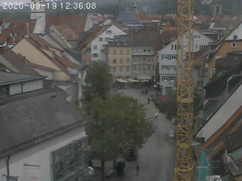 Ravensburg - Blick in die historische Bachstraße