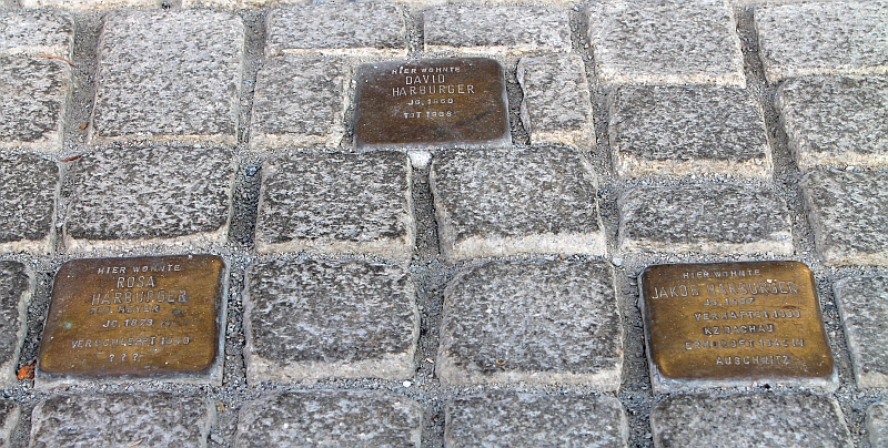 Stolpersteine für David Harburger, Rosa Harburger, Jakob Harburger