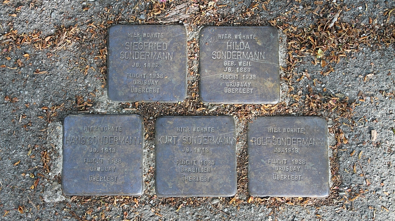 Stolpersteine Hilda Siegfried Kurt Hans Rolf Sondermann